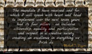 Michael D. Higgins quote : The mandate I have ...