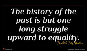 Elizabeth Cady Stanton quote : The history of the ...