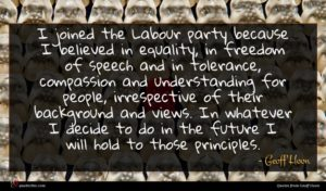 Geoff Hoon quote : I joined the Labour ...