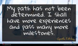 Agnetha Fältskog quote : My path has not ...