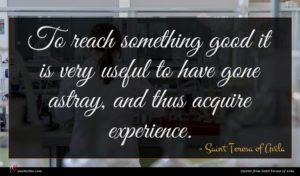 Saint Teresa of Avila quote : To reach something good ...