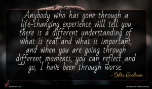 Delta Goodrem quote : Anybody who has gone ...