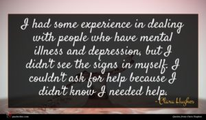 Clara Hughes quote : I had some experience ...