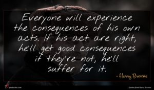 Harry Browne quote : Everyone will experience the ...