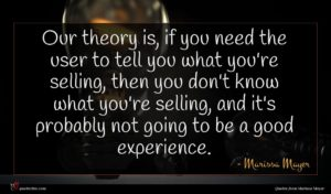 Marissa Mayer quote : Our theory is if ...