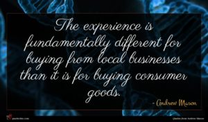 Andrew Mason quote : The experience is fundamentally ...