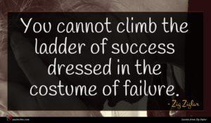Zig Ziglar quote : You cannot climb the ...