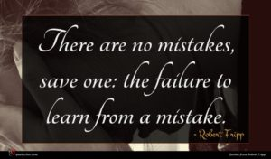 Robert Fripp quote : There are no mistakes ...