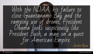 Justin Sane quote : With the NDAA his ...