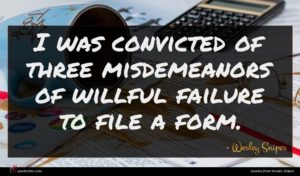Wesley Snipes quote : I was convicted of ...