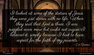 Cat Stevens quote : I looked at some ...