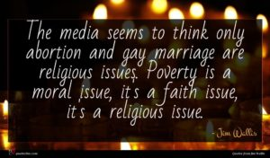 Jim Wallis quote : The media seems to ...
