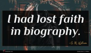 A. N. Wilson quote : I had lost faith ...