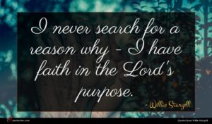 Willie Stargell quote : I never search for ...