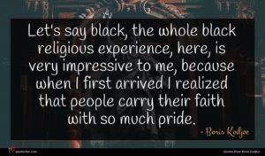 Boris Kodjoe quote : Let's say black the ...