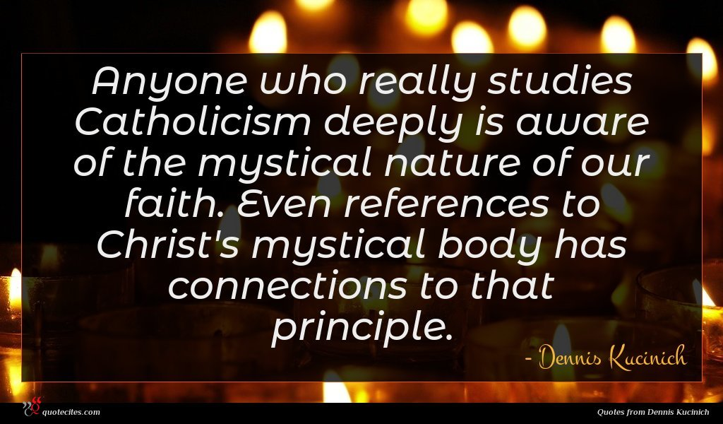 Anyone who really studies Catholicism deeply is aware of the mystical nature of our faith. Even references to Christ's mystical body has connections to that principle.