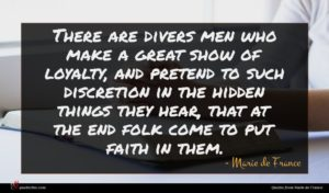 Marie de France quote : There are divers men ...