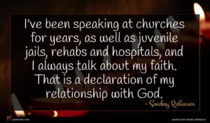 Smokey Robinson quote : I've been speaking at ...