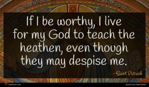 Saint Patrick quote : If I be worthy ...