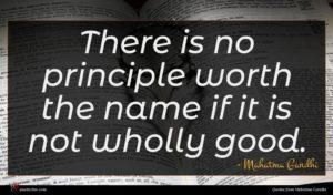 Mahatma Gandhi quote : There is no principle ...