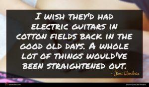 Jimi Hendrix quote : I wish they'd had ...