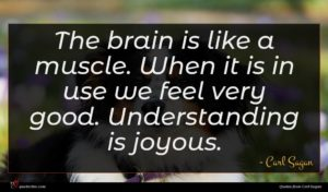 Carl Sagan quote : The brain is like ...