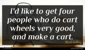 Mitch Hedberg quote : I'd like to get ...