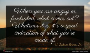 H. Jackson Brown, Jr. quote : When you are angry ...
