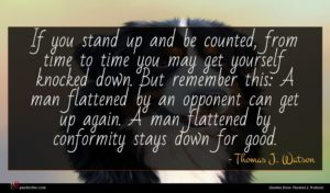 Thomas J. Watson quote : If you stand up ...