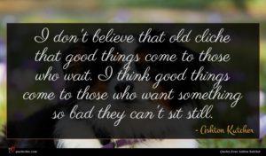 Ashton Kutcher quote : I don't believe that ...