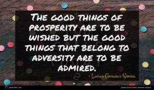 Lucius Annaeus Seneca quote : The good things of ...