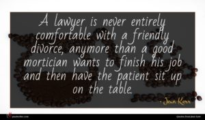 Jean Kerr quote : A lawyer is never ...