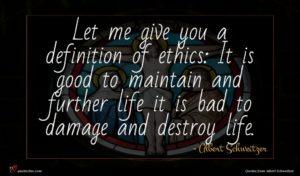 Albert Schweitzer quote : Let me give you ...