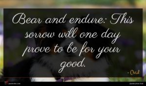 Ovid quote : Bear and endure This ...
