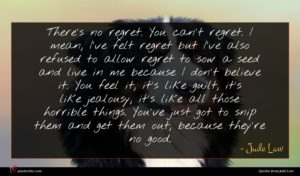Jude Law quote : There's no regret You ...