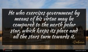 Confucius quote : He who exercises government ...