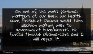 Mitt Romney quote : On one of the ...