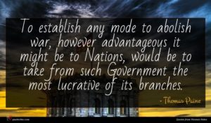 Thomas Paine quote : To establish any mode ...