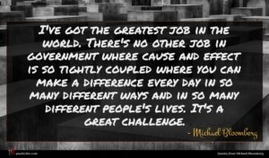 Michael Bloomberg quote : I've got the greatest ...