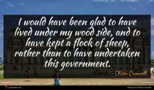 Oliver Cromwell quote : I would have been ...