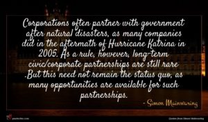 Simon Mainwaring quote : Corporations often partner with ...