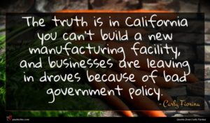 Carly Fiorina quote : The truth is in ...