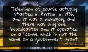 David Attenborough quote : Television of course actually ...