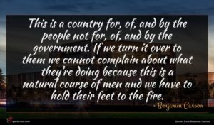 Benjamin Carson quote : This is a country ...