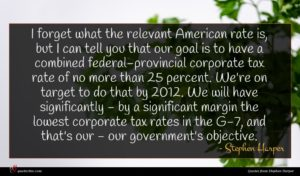 Stephen Harper quote : I forget what the ...