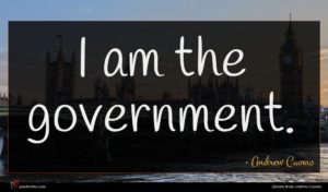 Andrew Cuomo quote : I am the government ...