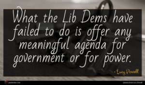 Lucy Powell quote : What the Lib Dems ...