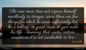 Aristotle quote : The wise man does ...