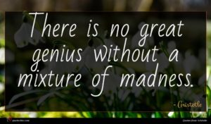 Aristotle quote : There is no great ...