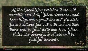 Lao Tzu quote : If the Great Way ...